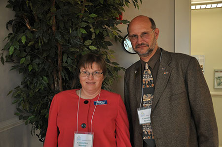 2010 GLF co-chairs of the Statesboro planning committee, Sharon Rowe and Dr. Bede Mitchell